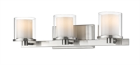 Picture for category Bathroom Vanity 3 Light With Brushed nickel Finish Steel LED-Integrated Bulb 23 inch 24 Watts