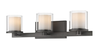 Picture for category Bathroom Vanity 3 Light With Bronze Finish Steel LED-Integrated Bulb 23 inch 24 Watts