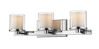Picture for category Bathroom Vanity 3 Light With Chrome Finish Steel LED-Integrated Bulb 23 inch 24 Watts