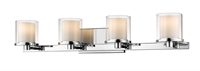 Picture for category Bathroom Vanity 4 Light With Chrome Finish Steel LED-Integrated Bulb 32 inch 32 Watts