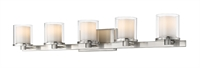Picture for category Bathroom Vanity 5 Light With Brushed nickel Finish Steel LED-Integrated Bulb 38 inch 40 Watts