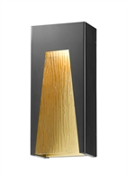 Picture for category Wall Sconces 1 Light With Black Gold Finish Aluminum Material LED-Integrated 8 inch 14 Watts