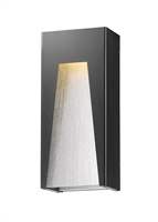 Picture for category Wall Sconces 1 Light With Black Silver Finish Aluminum Material LED-Integrated 8 inch 14 Watts