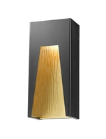 Picture for category Wall Sconces 1 Light With Black Gold Finish Aluminum Material LED-Integrated 6 inch 12 Watts