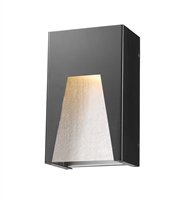 Picture for category Wall Sconces 1 Light With Black Silver Finish Aluminum Material LED-Integrated 6 inch 12 Watts