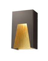 Picture for category Wall Sconces 1 Light With Bronze Gold Finish Aluminum Material LED-Integrated 6 inch 12 Watts