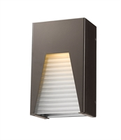 Picture for category Wall Sconces 1 Light With Bronze Silver Finish Aluminum Material LED-Integrated 6 inch 12 Watts
