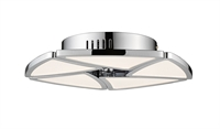 Picture for category Semi Flush 1 Light With Chrome Finish Steel and Aluminum LED-Integrated Bulb 13 inch 50 Watts