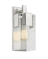 Picture for category Wall Sconces 1 Light With Brushed Nickel Finish Steel Medium Base Bulb 5 inch 60 Watts