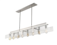 Picture for category Island Lighting 8 Light With Brushed Nickel Finish Steel Medium Base Bulb 8 inch 480 Watts