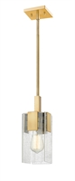 Picture for category Mini Pendants 1 Light With Vintage Brass Finish Steel Medium Base Bulb 5 inch 60 Watts