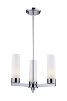 Picture for category Chandeliers 3 Light With Chrome Finish Steel Medium Base Bulb 16 inch 300 Watts