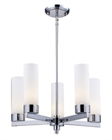 Picture for category Chandeliers 5 Light With Chrome Finish Steel Medium Base Bulb 20 inch 500 Watts