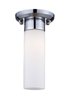 Picture for category Flush Mounts 1 Light With Chrome Finish Steel Material Medium Base Bulb 5 inch 60 Watts