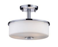 Picture for category Semi Flush 3 Light With Chrome Finish Steel Material Medium Base Bulb 11 inch 180 Watts