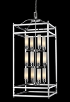 Picture for category Pendants 12 Light With Chrome Finish Steel Candelabra Base Bulb 18 inch 720 Watts