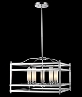 Picture for category Pendants 5 Light With Chrome Finish Steel Candelabra Base Bulb 21 inch 300 Watts