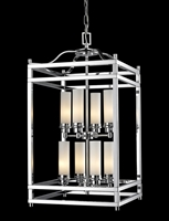 Picture for category Pendants 8 Light With Chrome Finish Steel Candelabra Base Bulb 15 inch 480 Watts