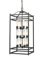 Picture for category Pendants 12 Light With Bronze Finish Steel Candelabra Base Bulb 18 inch 720 Watts
