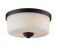 Picture for category Flush Mounts 2 Light With Bronze Finish Steel Medium Base Bulb 12 inch 120 Watts