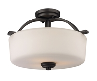 Picture for category Semi Flush 3 Light With Bronze Finish Steel Material Medium Base Bulb 16 inch 300 Watts