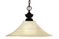 Picture for category Pendants 1 Light With Bronze Finish Steel Material Medium Base Bulb 16 inch 150 Watts