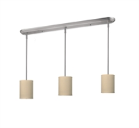 Picture for category Island Lighting 3 Light With Brushed Nickel Finish Steel Medium Base Bulb 6 inch 180 Watts
