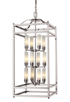 Picture for category Pendants 12 Light With Brushed Nickel Finish Steel Candelabra Base Bulb 18 inch 720 Watts