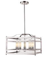 Picture for category Pendants 5 Light With Brushed Nickel Finish Steel Candelabra Base Bulb 21 inch 300 Watts