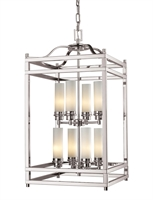 Picture for category Pendants 8 Light With Brushed Nickel Finish Steel Candelabra Base Bulb 15 inch 480 Watts