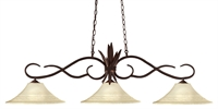 "Picture for category Island Lighting 3 Light Fixtures With Bronze Finish Steel Material Medium 16"" 450 Watts"