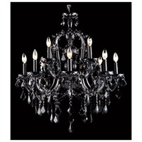 Picture for category Avenue Lighting HF1039-BLK Chandeliers Black Crystal Crystal Onyx Ln