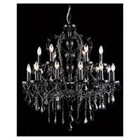 Picture for category Avenue Lighting HF1040-BLK Chandeliers Black Crystal Crystal Onyx Ln