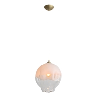 Picture for category Avenue Lighting HF8141-BB-WH Pendants Brushed Brass Iron/Aluminum/Glass Sonoma Ae