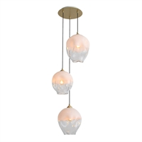 Picture for category Avenue Lighting HF8143-BB-WH Pendants Brushed Brass Iron/Aluminum/Glass Sonoma Ae