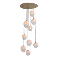 Picture for category Avenue Lighting HF8149-BB-WH Pendants Brushed Brass Iron/Aluminum/Glass Sonoma Ae