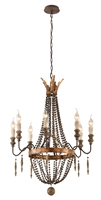 Picture for category Troy F3535 Delacroix Chandeliers 30in 8-light