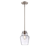 Picture for category Savoy House Lighting 7-4134-1-SN Mini Pendants Satin Nickel Vintage