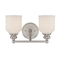 Picture for category Savoy House Lighting 8-6836-2-SN Bath Lighting Satin Nickel Melrose