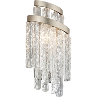 Picture for category Corbett Lighting 243-12 Wall Sconces Modern Siler Leaf Hand-Crafted Iron and Hand-crafted Venetian Glass Mont Blanc