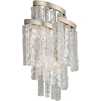 Picture for category Corbett Lighting 243-13 Wall Sconces Modern Siler Leaf Hand-Crafted Iron and Hand-crafted Venetian Glass Mont Blanc