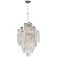 Picture for category Corbett Lighting 243-413 Chandeliers Modern Siler Leaf Hand-Crafted Iron and Hand-crafted Venetian Glass Mont Blanc