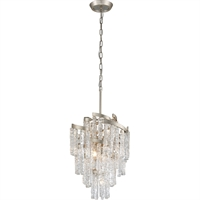 Picture for category Corbett Lighting 243-47 Chandeliers Modern Siler Leaf Hand-Crafted Iron and Hand-crafted Venetian Glass Mont Blanc