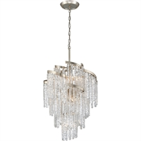 Picture for category Corbett Lighting 243-49 Chandeliers Modern Siler Leaf Hand-Crafted Iron and Hand-crafted Venetian Glass Mont Blanc