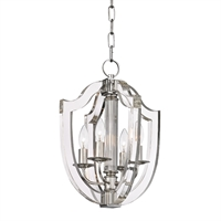Picture for category Pendants 4 Light With Polished Nickel Finish Candelabra Bulbs 13 inch 240 Watts