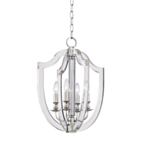 Picture for category Pendants 4 Light With Polished Nickel Finish Candelabra Bulbs 17 inch 240 Watts