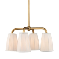 Picture for category Chandeliers 4 Light With Aged Brass Finished Medium Base Bulbs 25 inch 240 Watts