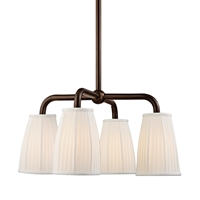 Picture for category Chandeliers 4 Light With Distressed Bronze Finish Medium Bulbs 25 inch 240 Watts