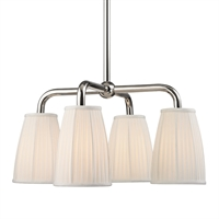 Picture for category Chandeliers 4 Light With Polished Nickel Finished Medium Bulbs 25 inch 240 Watts