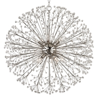 Picture for category Chandeliers 10 Light With Polished Nickel Finish Candelabra Bulbs 29 inch 600 Watts